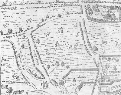 LEICESTER SQUARE. The site of Leicester Square (from Aggas' map). London c1880
