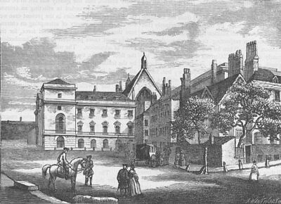 WESTMINSTER. Old Palace Yard in 1796 (from a drawing by Miller). London c1880