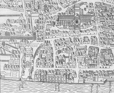 CITY OF LONDON. St. Paul's & neighbourhood (from Aggas's plan, 1563) c1880 map