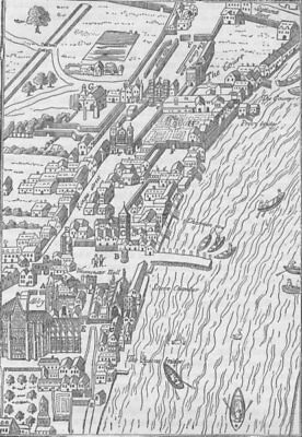 WESTMINSTER. Whitehall and Westminster (from Aggas' map). London c1880 old