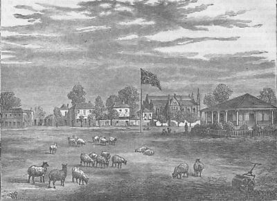 ST.JOHN'S WOOD. Lord's cricket ground in 1837. London c1880 old antique print