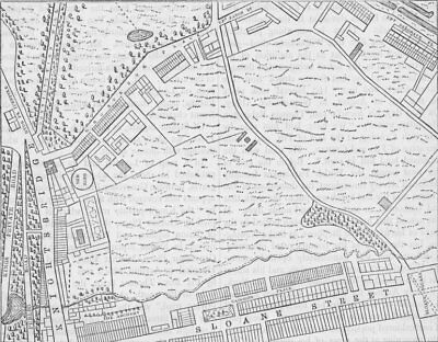 BELGRAVIA. Map of Belgravia, 1814. London c1880 old antique plan chart