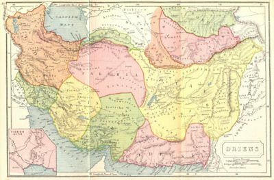 IRAN. Oriens; Tigridis Ostia Ancient 1908 old antique vintage map plan chart