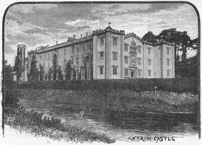 IRELAND. Antrim. Castle 1898 old antique vintage print picture
