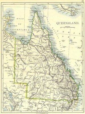 AUSTRALIA. Queensland 1897 old antique vintage map plan chart