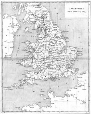 ENGLAND. Angleterre 1879 old antique vintage map plan chart