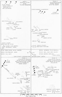 LIBYA. African Campaigns. 2nd battle of Sirte 22nd March 1942 1956 old map