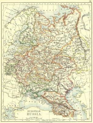 RUSSIA. European Russia 1897 old antique vintage map plan chart