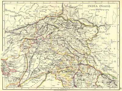 INDIA. India(North) 1897 old antique vintage map plan chart