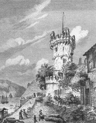 GERMANY. The Black Forest. Rudesheim and the Bingerloch c1893 old print