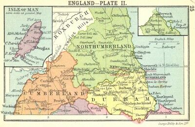 ENGLAND. England-Plate II; Small map 1912 old antique vintage plan chart