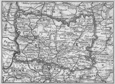 OISE. Oise 1878 old antique vintage map plan chart