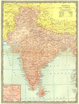 BRITISH INDIA inc Pakistan & Bangladesj/Bengal. Calcutta environs 1907 old map