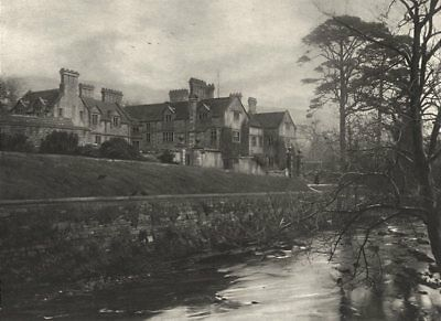 DERBYSHIRE. Derwent hall 1901 old antique vintage print picture