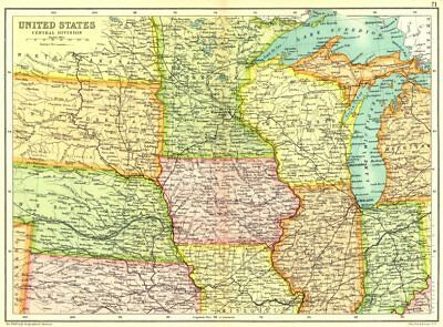 UNITED STATES SHOWING railways, forts & Indian Reservations ...