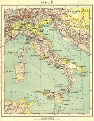 ITALY. Italië 1922 old vintage map plan chart