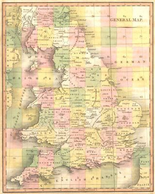 UNITED KINGDOM. England & Wales General Index Map. CARY 1794 old antique