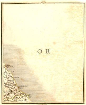 NORTH YORKSHIRE COAST.Scarborough Hunmanby Filey East Ayton Cayton.CARY 1794 map