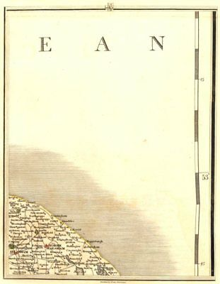 NORFOLK COAST. North Walsham Aylsham Cromer Mundesley Happisburgh. CARY 1794 map
