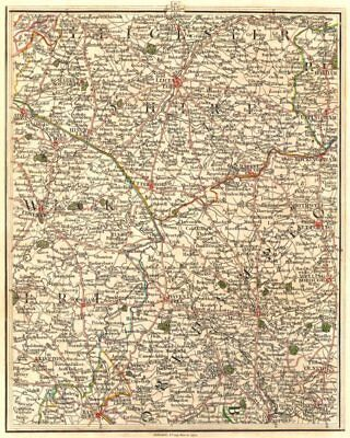 MIDLANDS. Leicester Coventry Northampton Leamington Spa Rugby. CARY 1794 map