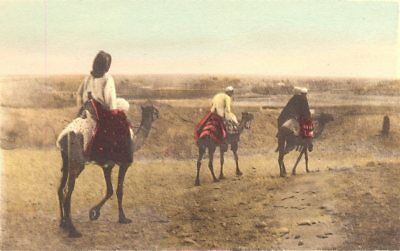 EGYPT. En Route for the Fields. Hand coloured. 1900 old antique print picture