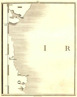 IRELAND EAST COAST. Newry, Carlingford, Drogheda. CARY 1794 old antique map