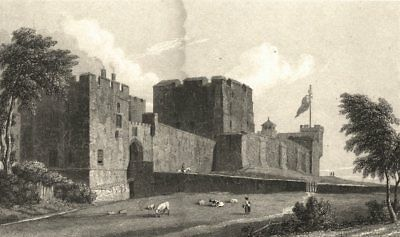 CUMBRIA. Carlisle Castle (Westall) 1830 old antique vintage print picture
