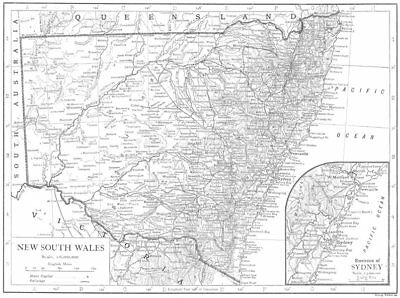 AUSTRALIA. New South Wales; Inset map of Environs of Sydney 1910 old