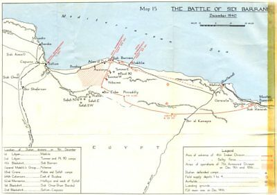 SIDI BARRANI.1st British offensive western desert-I.battle of Dec 1940 1954 map