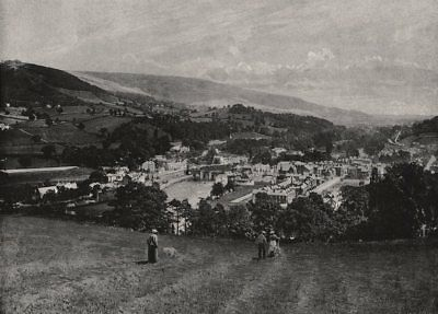 WALES. Llangollen and Crow Castle 1900 old antique vintage print picture