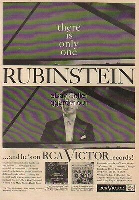1956 Artur Rubinstein RCA Victor LP Records LM-1908 LM-1892 Vintage 50s Photo Ad