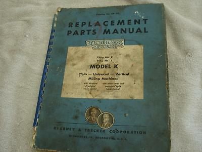 Kearney & Trecker K Mod  Milling Machine Parts  Manual