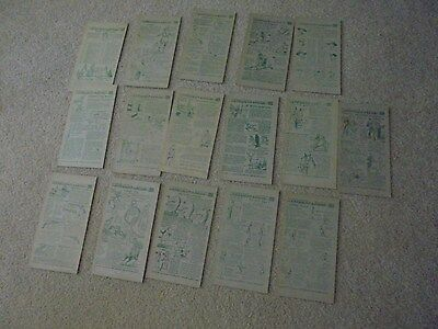 Vintage Lot of 16 Nabisco Book Four Indian Cards Cereal premium