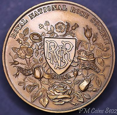 Royal National Rose Society bronze medal 42mm *[8102]