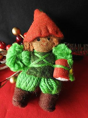 Hallmark Ornament  1978 Green Drummer Boy Yarn Collection