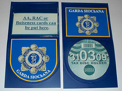 GARDA SIOChaNA/Irish Police Tax Disc holder personalised.