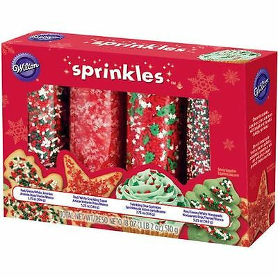 Christmas Holiday Mega Sprinkle Set 4 types from Wilton #177 - NEW