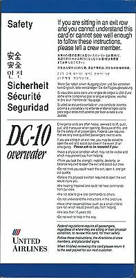 Safety Card - United - DC-10 Overwater - c1992  (S3739)