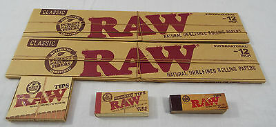 """RAW Brand 5 Piece Set Supernatural Size 12"""" Inch 30 cm 2 Papers 3 Type Tips  #38"""