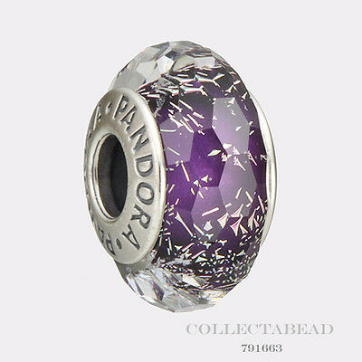 Authentic Pandora Sterling Silver Dark Purple Shimmer Bead 791663
