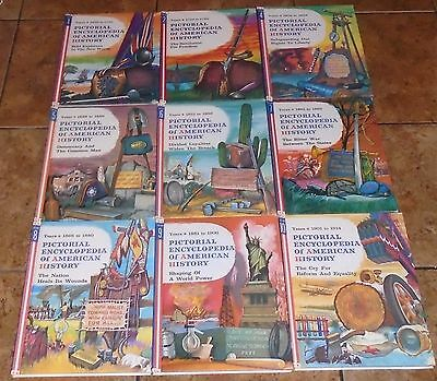 Pictorial Encyclopedia Of American History LOT OF 18 History children's books