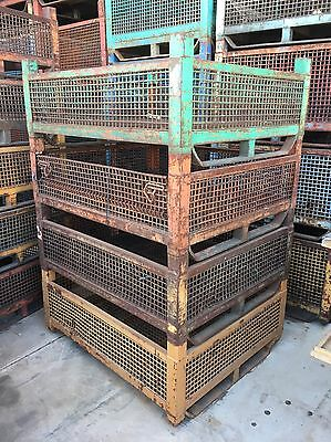 Industrial Steel Stackable Storage Stillages Cage Shed Cube