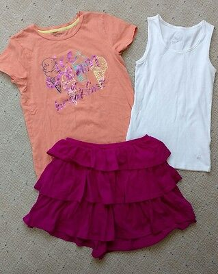 Girls size 14 Gap Kids Justice Shirts tiered skirt spring summer clothes lot
