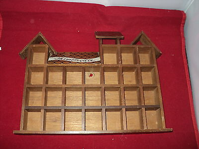 Thimble wooden display case holds 25 thimbles  code A25 COTT