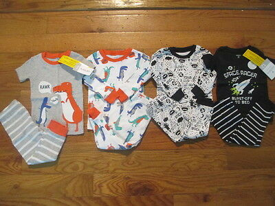 8 piece LOT of baby boy spring/summer pajamas size 12 months NWT