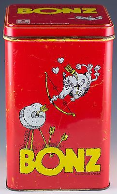 Vintage Purina Bonz Holiday Treat Tin Canister 1986