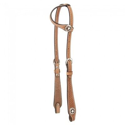 Tough one Royal King Square Cheek Single Ear Headstall - LIGHT OIL - NWT