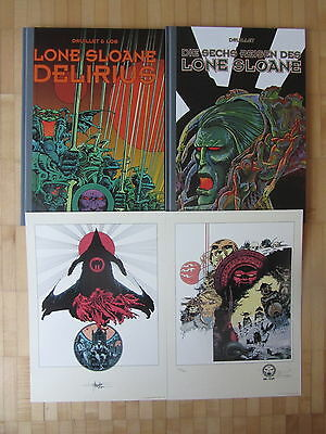 LONE SLOANE 1+2 VZA BUNDLE deutsch PHILIPPE DRUILLET lim.100 Ex +signed Artprint