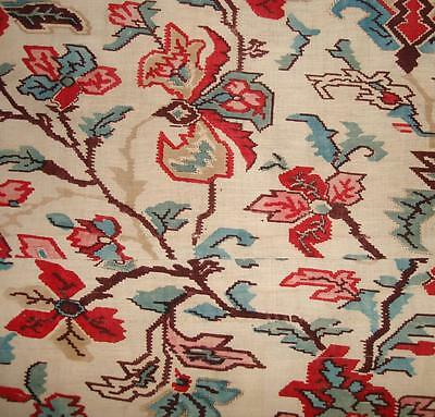 BEAUTIFUL ANTIQUE 19th CENTURY FRENCH LINEN INDIENNE, REF PROJECTS