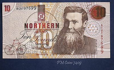 "1999 Northern Bank, Ten pounds, £10 Prefix ""BC"" banknote *[7409]"